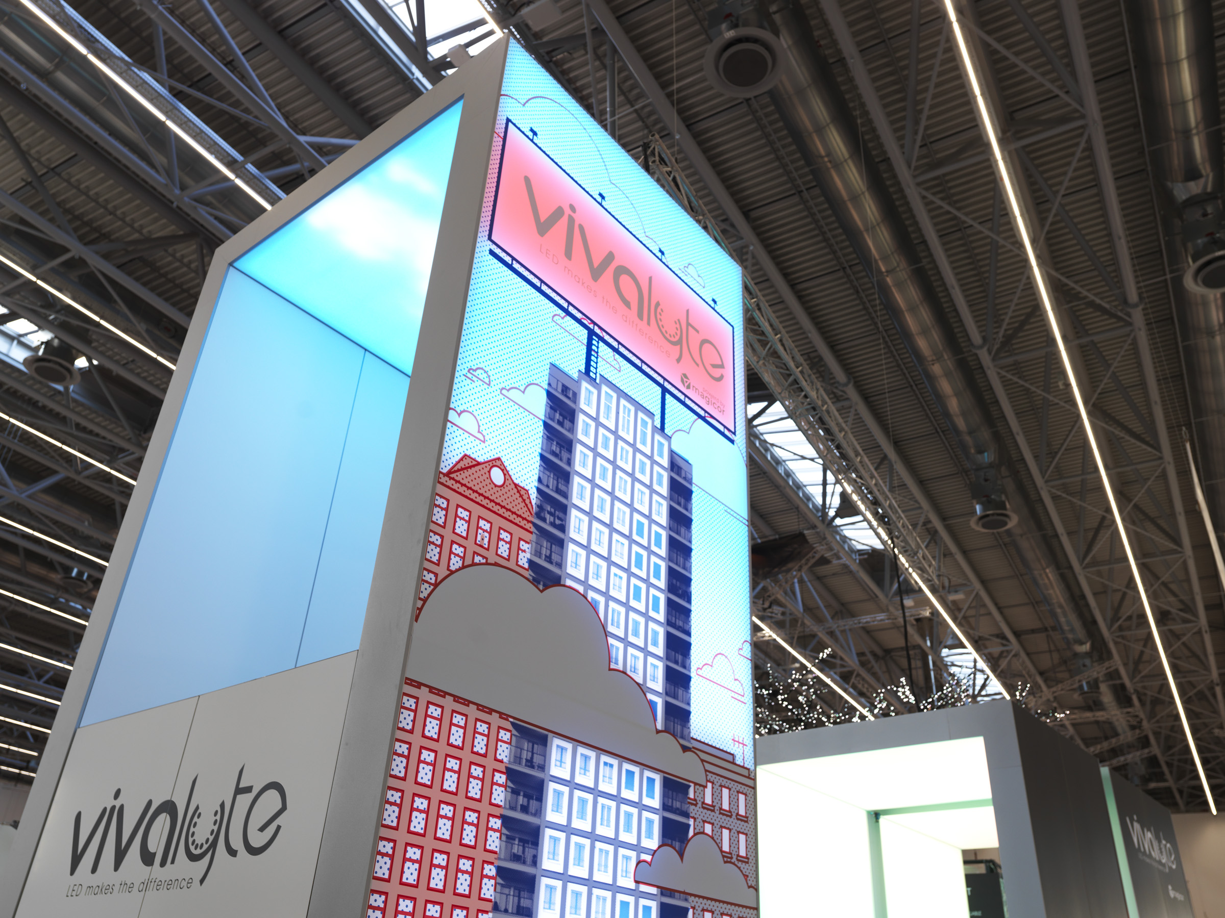 Vivalyte large format print gamification dynamic wall