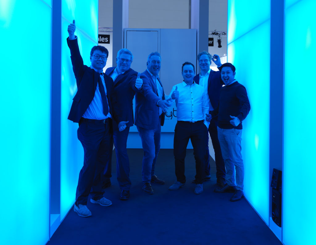 Team Vivalyte interactive led backlit lightbox wall with lidar gamification