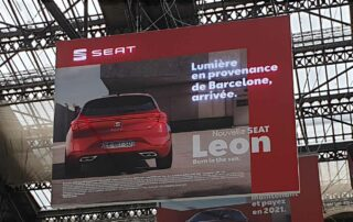 Dynamic LED Lightbox Signage for SEAT in Paris